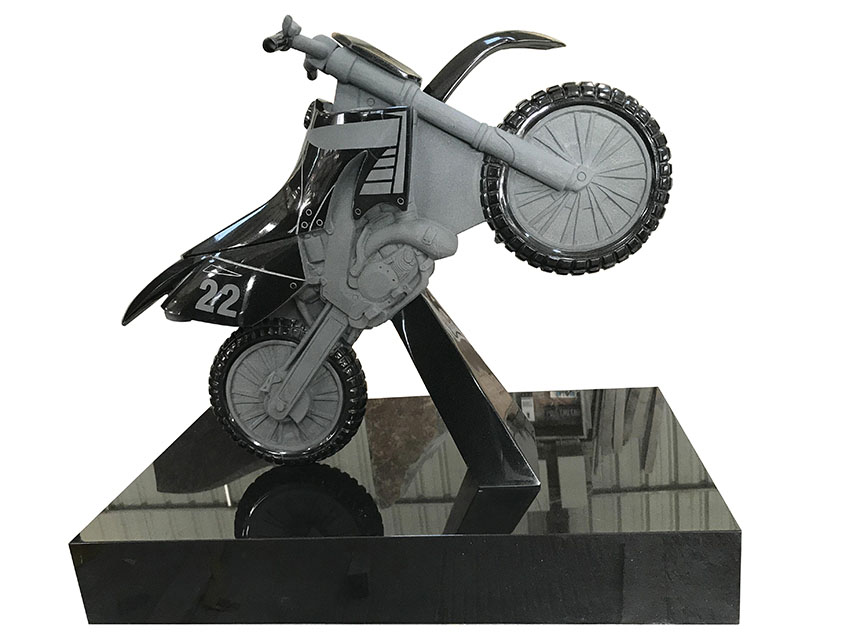 Black Motorcycle Tombstone