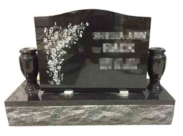 Polished Black Tombstone