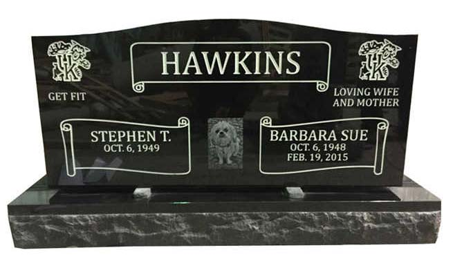 Dog Photo Engraved Headstone