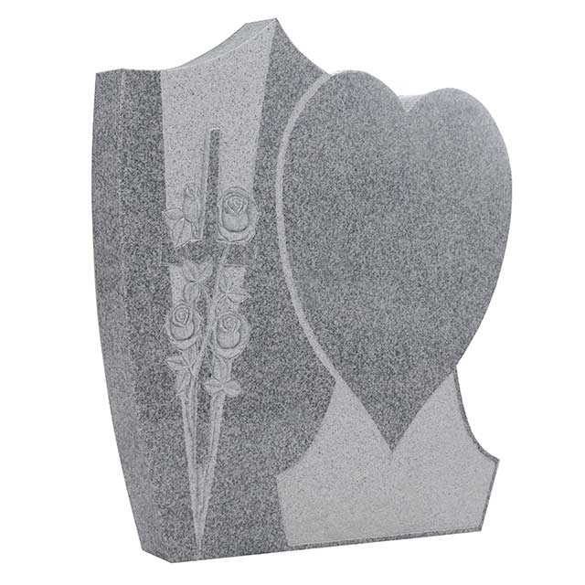 Granite Heart Tombstone