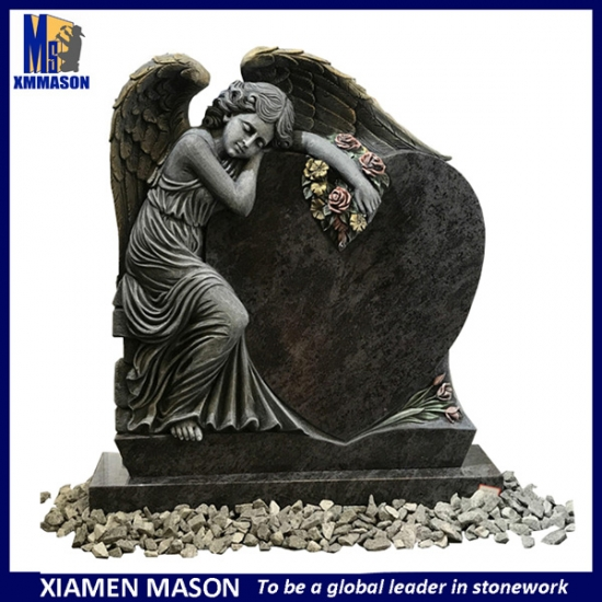 Germany Stylish Tombstone with Carved Angel