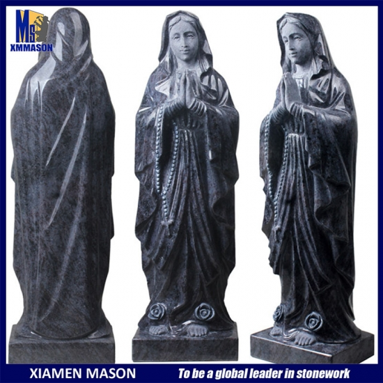 Life Size Granite Virgin Mary Sculpture